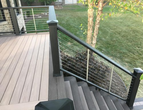 Deck Railing with Wire