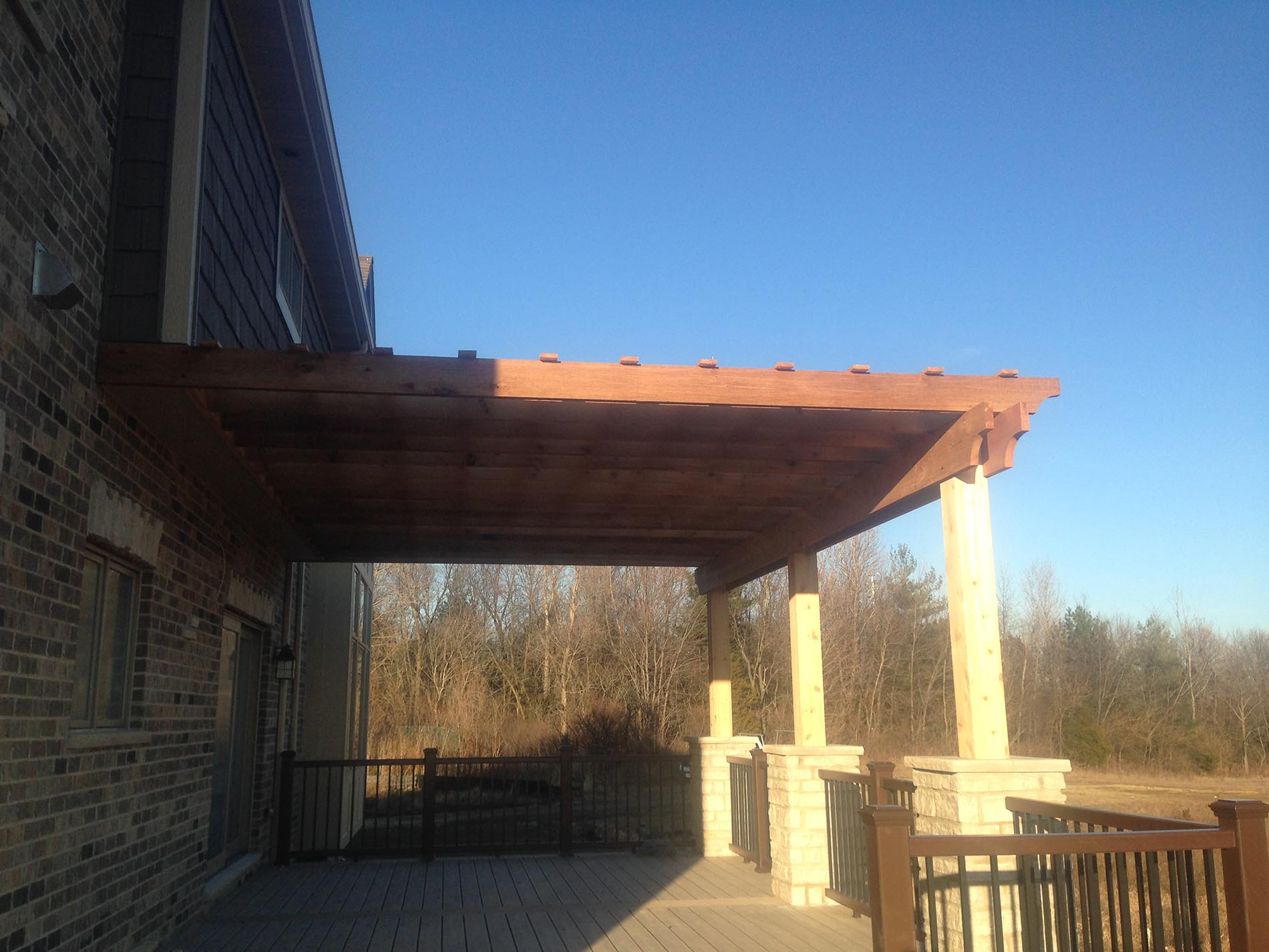 open air deck covering for shade