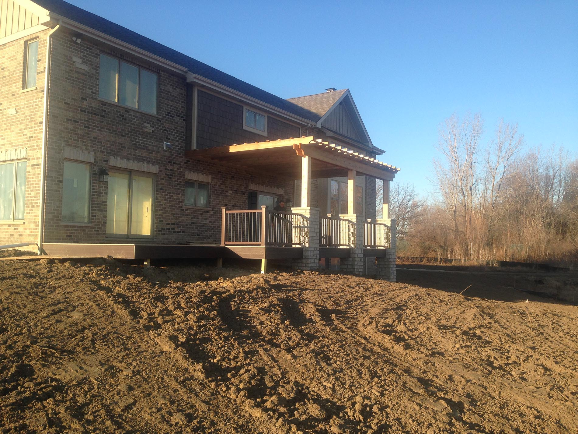 deck for a new construction home