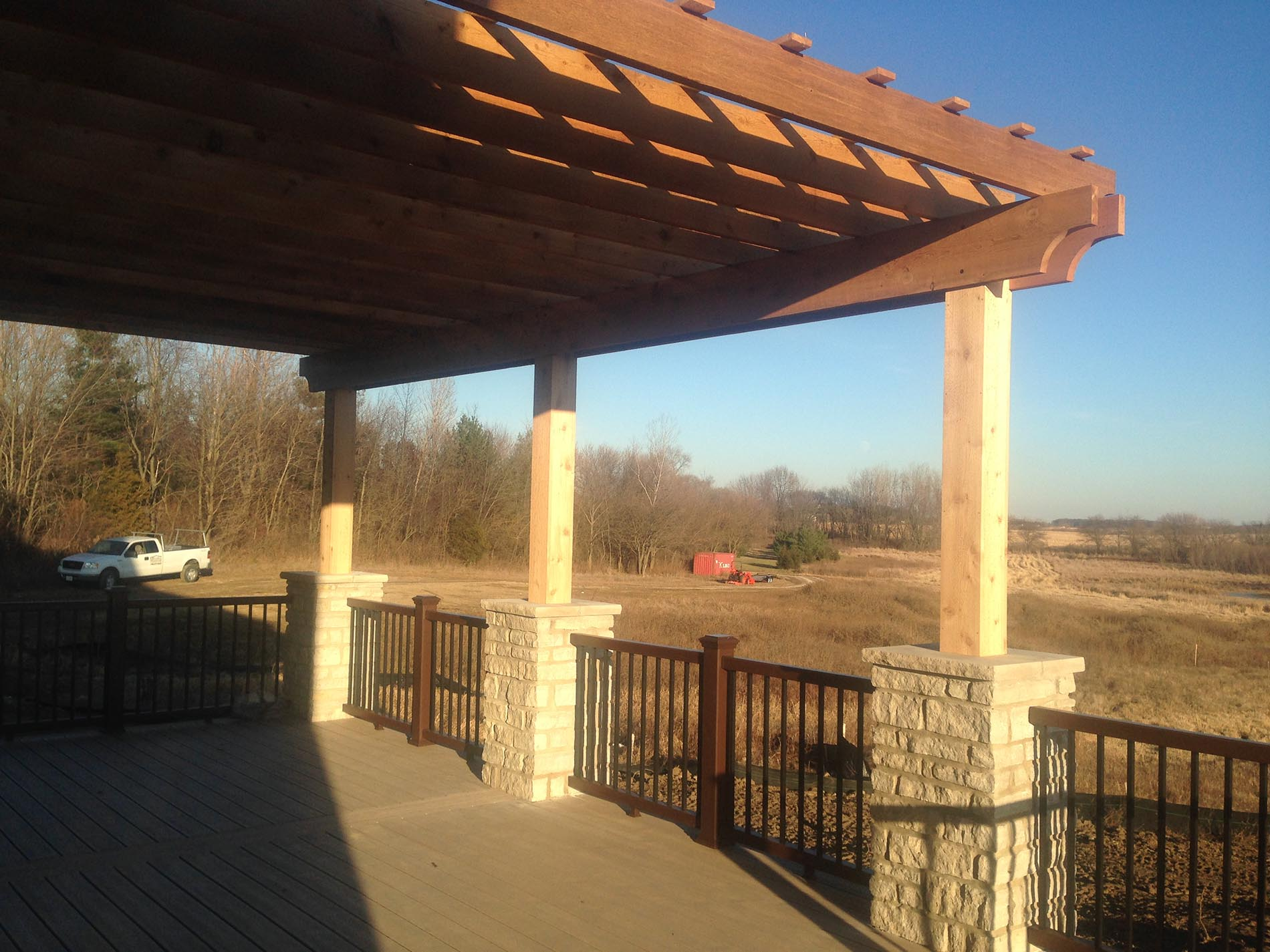 pergola covering for deck