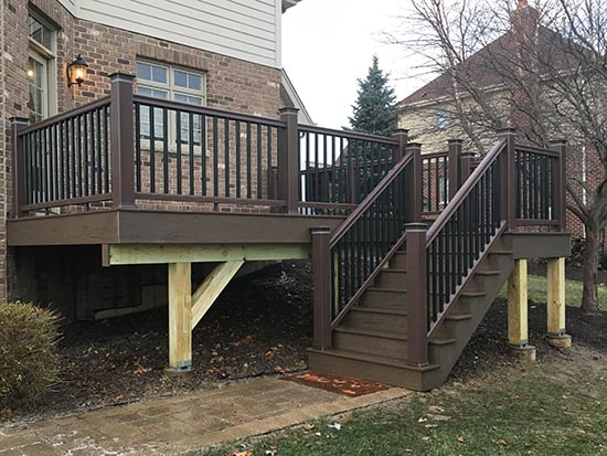 raised deck and stair case