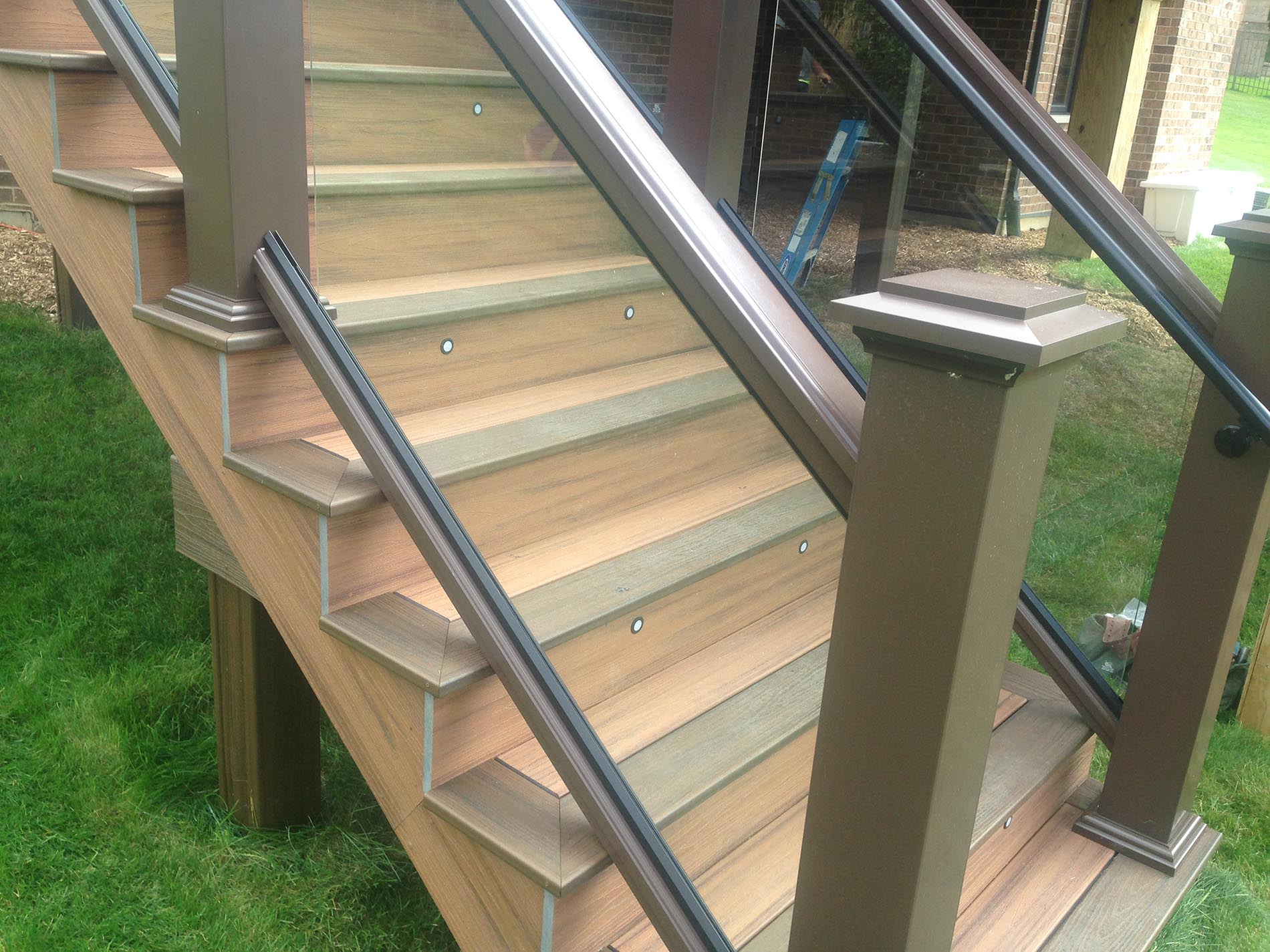 glass railing for deck installation